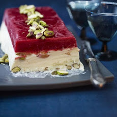 Iced Nougat & Raspberry Terrine