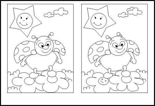 Encontrar diferencias entre dos imagenes para imprimir - Imagui