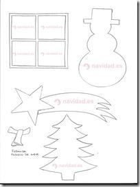 Plantillas-árbol-y-muñeco-de-nieve-para-hacer-postales-navideñas
