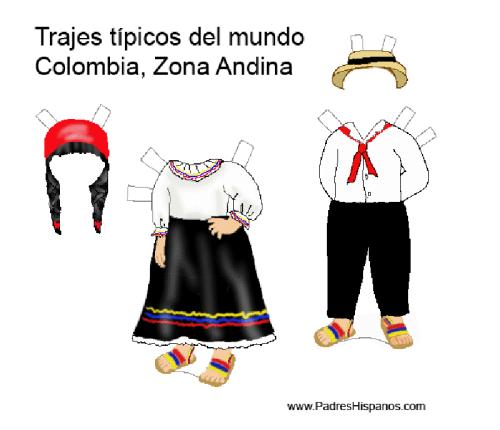 Muñecas para vestir con trajes típicos del mundo   Colorear