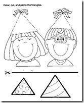 niños triangulos