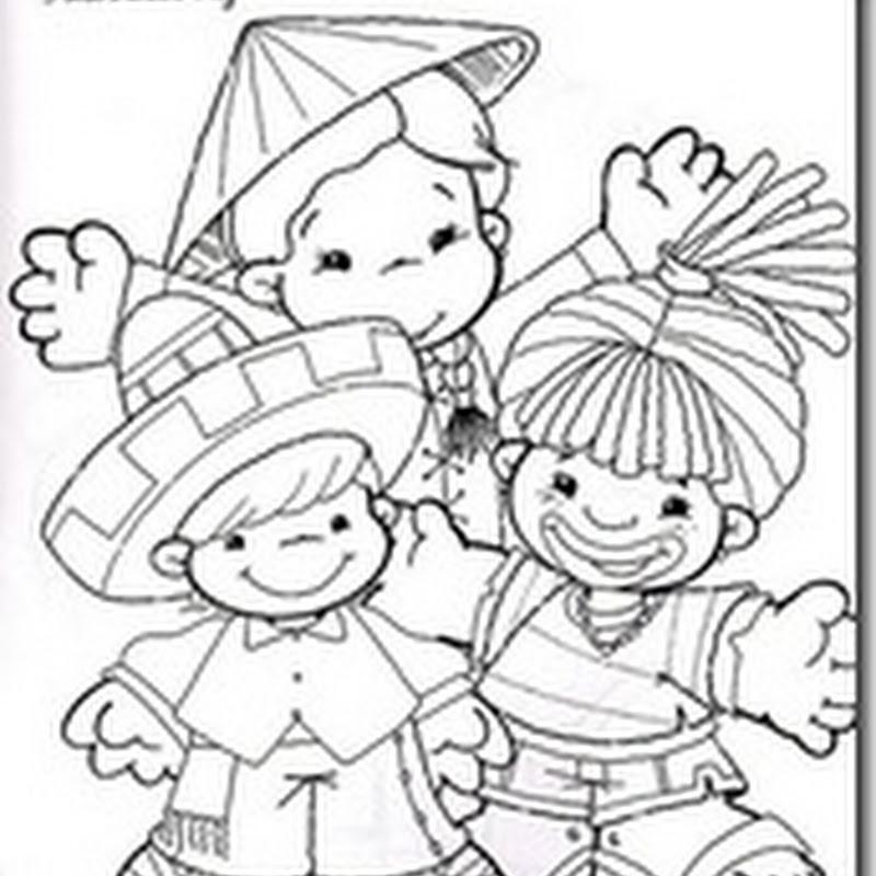 Derechos de los niños para colorear