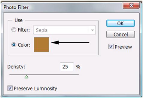 Photo Filter Color Option