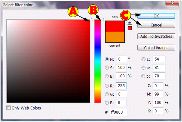 Select Filter Color