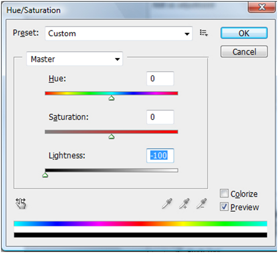 Hue/Saturation Dialog Box