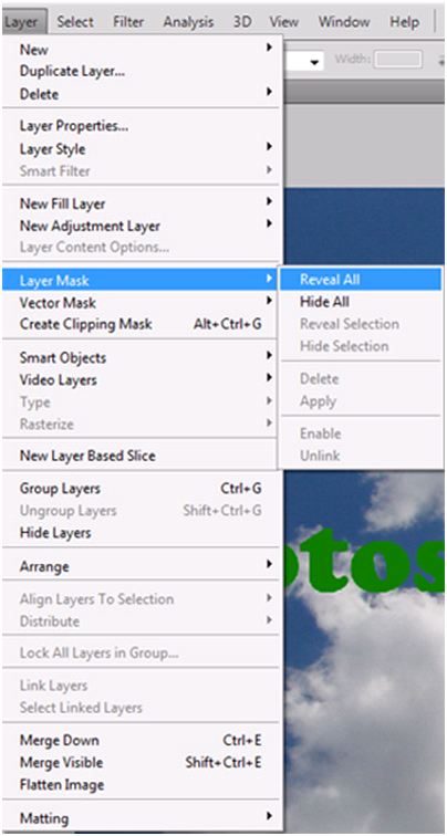 Layer Mask Menu