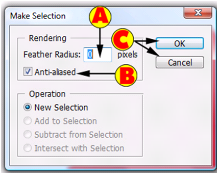 Make Selection Dialog Box