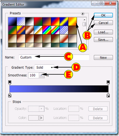 Gradient Editor Options