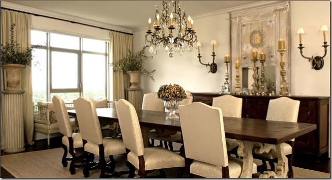 Surprise In The Dining Room Is The Swedish Sofa Flanked By Columns