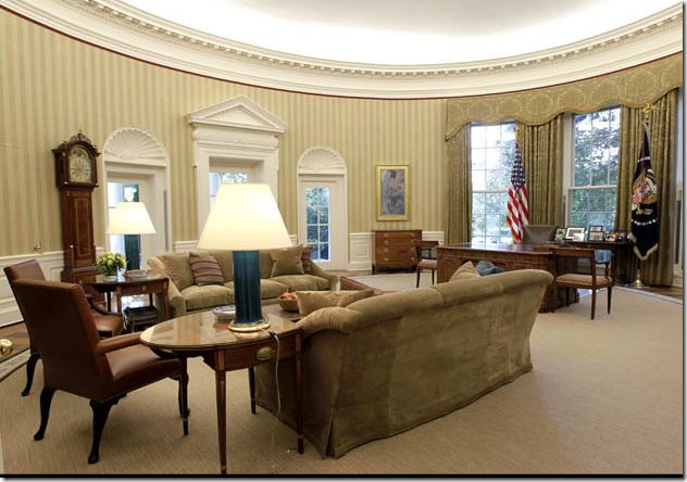 before the oval office as it was under george w bush notice that
