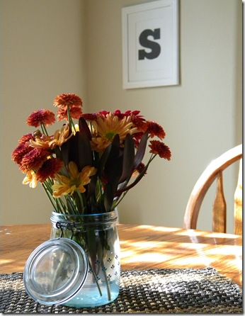 Fall flowers on the table