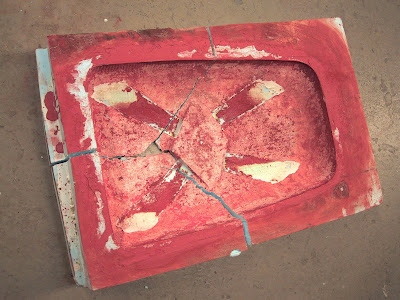 remains of mold for Corb table (eps foam 2002)