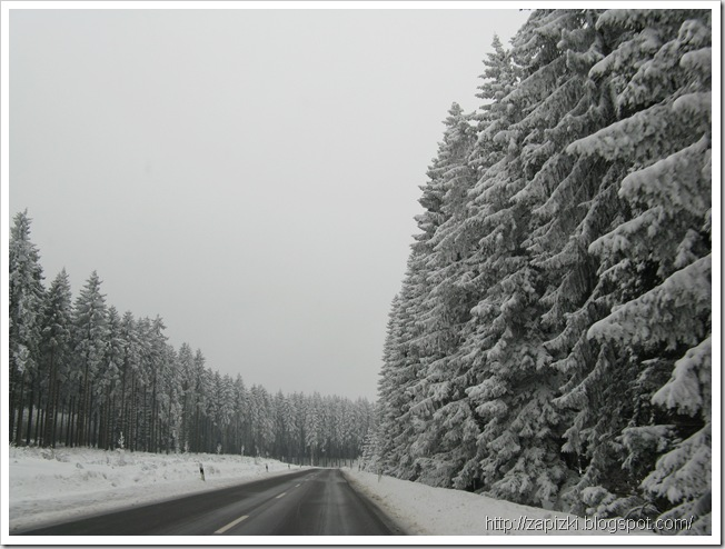 Зимняя дорога в Hambachtal