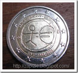 Бельгийская монета 2 евро
