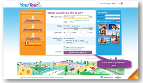 Youtour main page