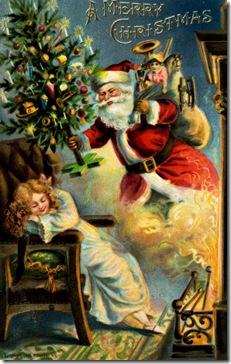 Santa Claus arrives