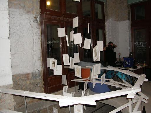 Vágó Szabolcs,  Budapest, Telep,  Gozsdu udvar, kiállításmegnyító