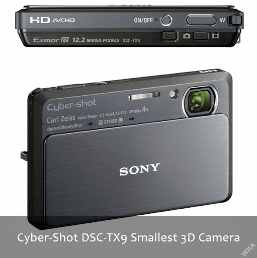 Sony released Cyber Shot World's Smallest 3D cameras models TX9 and WX5 with features like 3D panorama, Superior Quality Mode, Background Defocus image