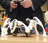 iPhone,Hexapod,Android control Hexapod Robot, HTC Hero,iPhone iOS, Android OS,iOS,Robot,Spider,Walking,iPod,Touch,Bluetooth,Wifi,Modern,Warfare,android,Heximotion