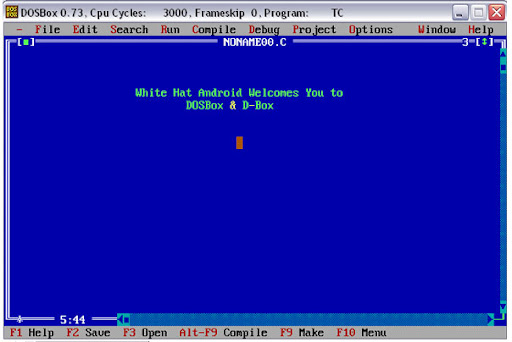 DOSBOX-DBox-Run Dos Programs in Windows Vista/7 like Turbo C/C++
