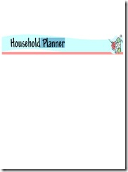 Household Planner border 2 med