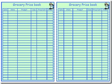 Household Planner Pricebook Medium