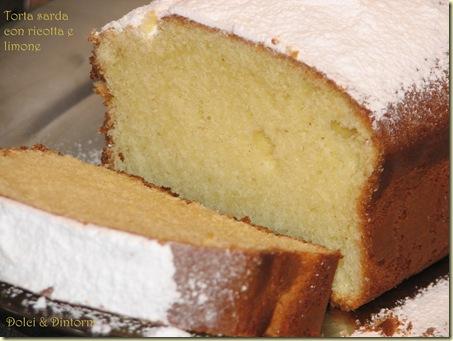 Torta sarda con ricotta e limone
