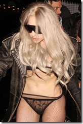 #4972391 Lady Gaga was scantily clad and wearing some sky high platforms as she hit the town in Stockholm, Sweden after a performance on May 8, 2010.  Restriction applies: USA ONLY   Fame Pictures, Inc - Santa Monica, CA, USA - +1 (310) 395-0500