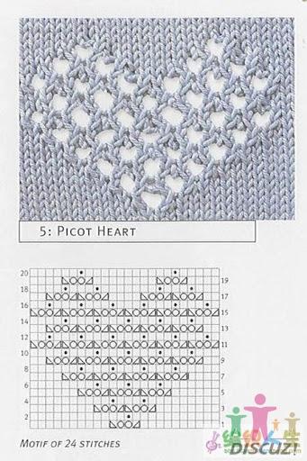 引用 心形花样毛衣(V领长袖,衣长偏长) - 阿明的手工坊 - 千针万线