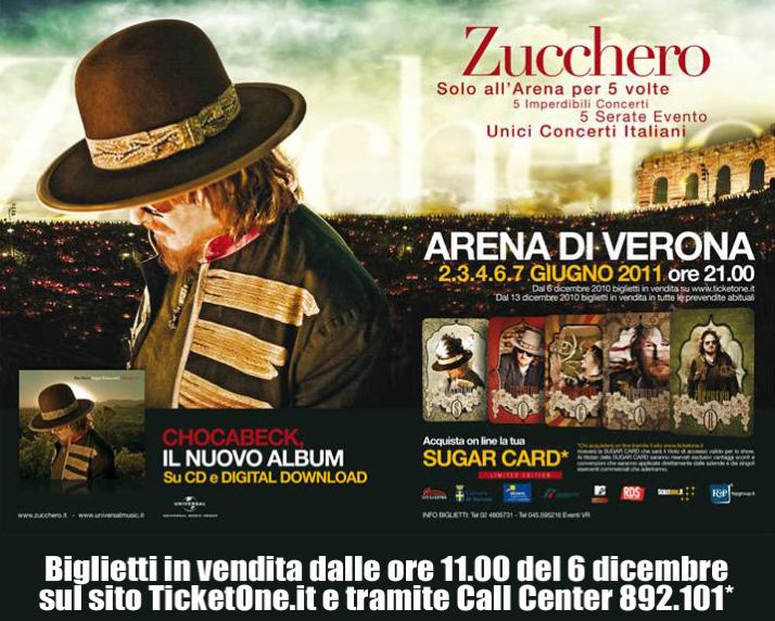 Zucchero Concerti 20111 Arena Verona