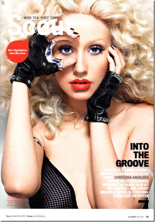 Christina Aguilera X-tina GQ Alemã by Alix Malka  (1)