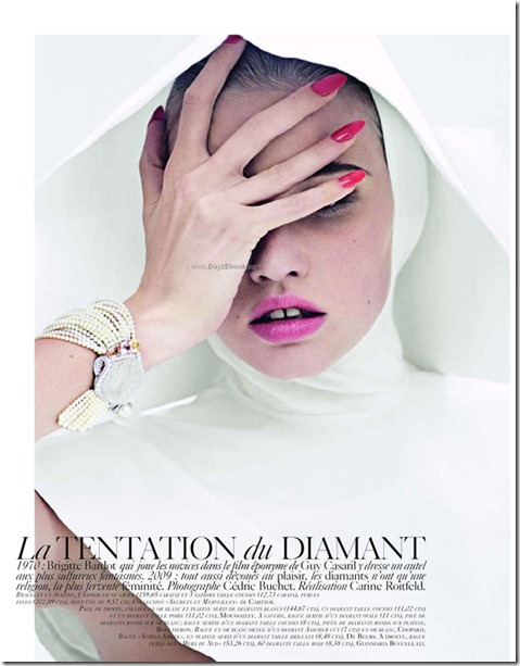 La Tentation du Diamant with Lara stone by Cedric Buchet for Vogue Paris 1