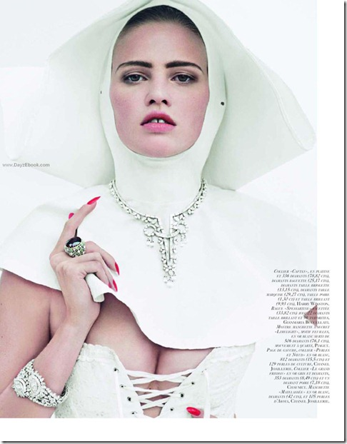 La Tentation du Diamant with Lara stone by Cedric Buchet for Vogue Paris 7