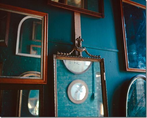 mirrors, sunlight, green