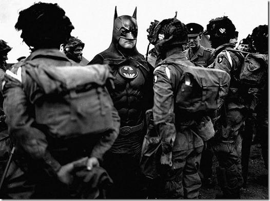 Super Hérois inseridos em foto de Contexto Histórico  (3)