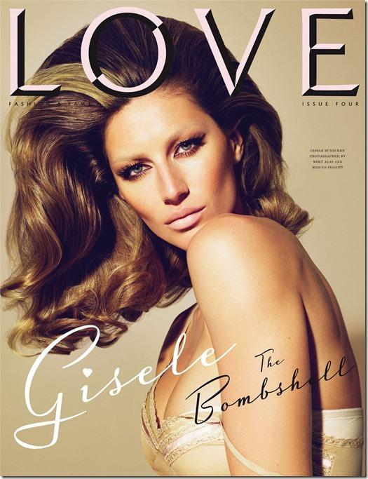 Gisele Bundchen Bombshell Love Magazine