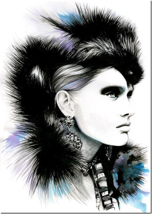 Fashion Ilustração  Caroline Andrieu  Portfólio (12)