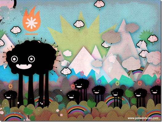 Poked estudio de art design gráfico 3d ilustração animação (15)