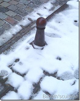 pavés neige
