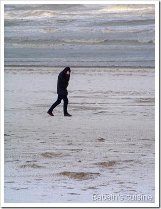 vent sur la plage