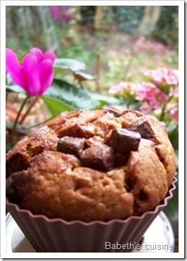 muffins choco lait pépites noires 3