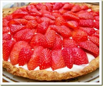 tarte fraises entière