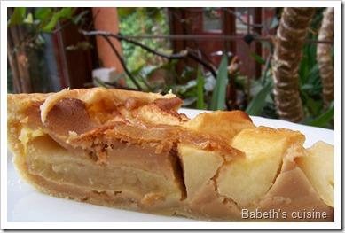 tarte pommes crème speculoos morceau