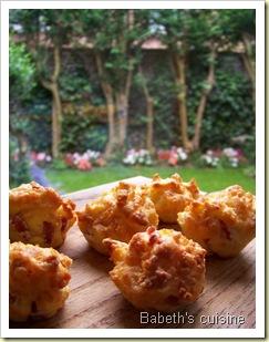 mini muffins comté bacon