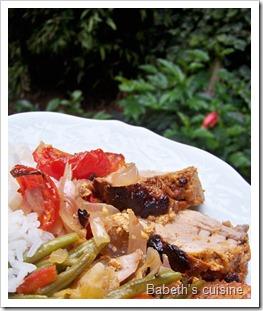 filet mignon tandoori assiette