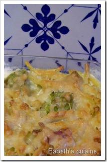 gratin pâtes chou romanesco pancetta