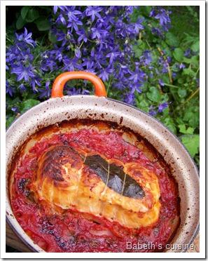 rôti saumon saint jacques à la tomate