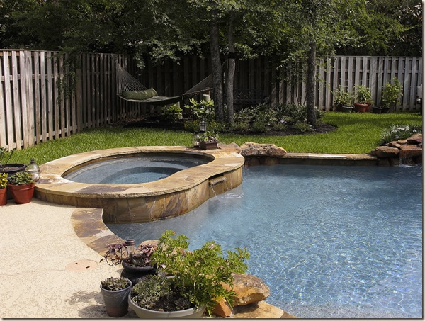 hot tub area