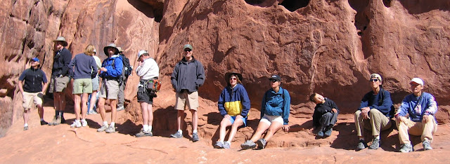 The whole gang at Arches NP