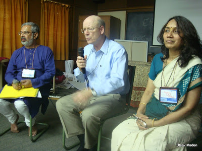 (L-R) Kartikeya Sarabhai, Steven C. Rockefeller and Madhavi Joshi @ the Youth pre-conference